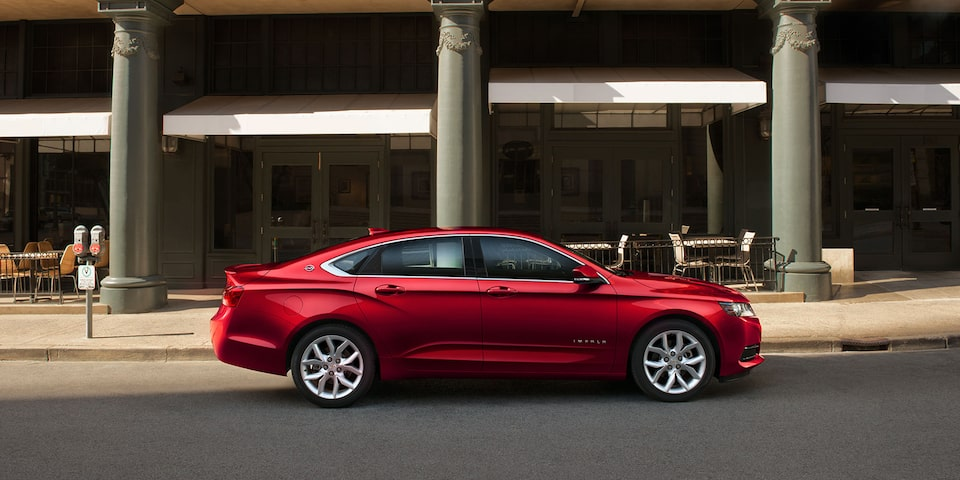 Exterior design of the Chevrolet Impala full-size sedan.