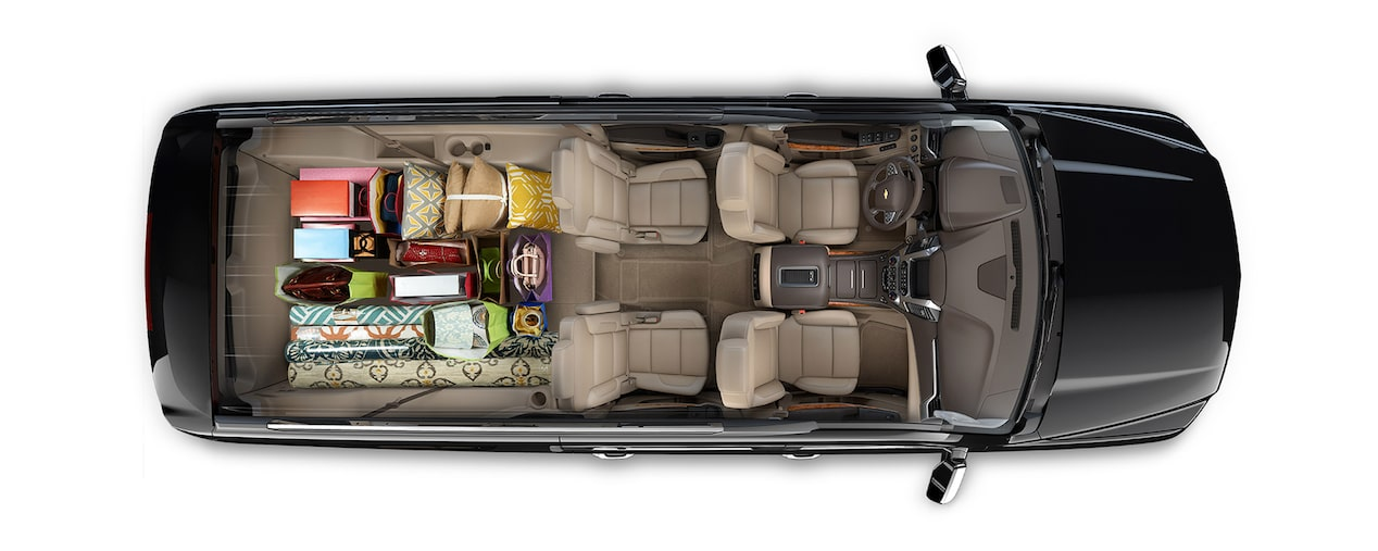2019 Suburban Large SUV Cargo: shopping trip