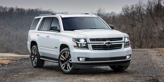 2019 Tahoe exterior: front and side profile.