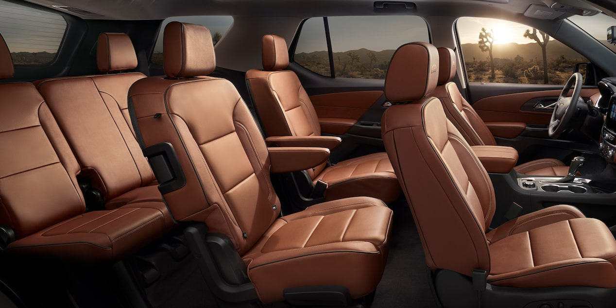2019 Traverse Mid Size SUV Design: interior seating