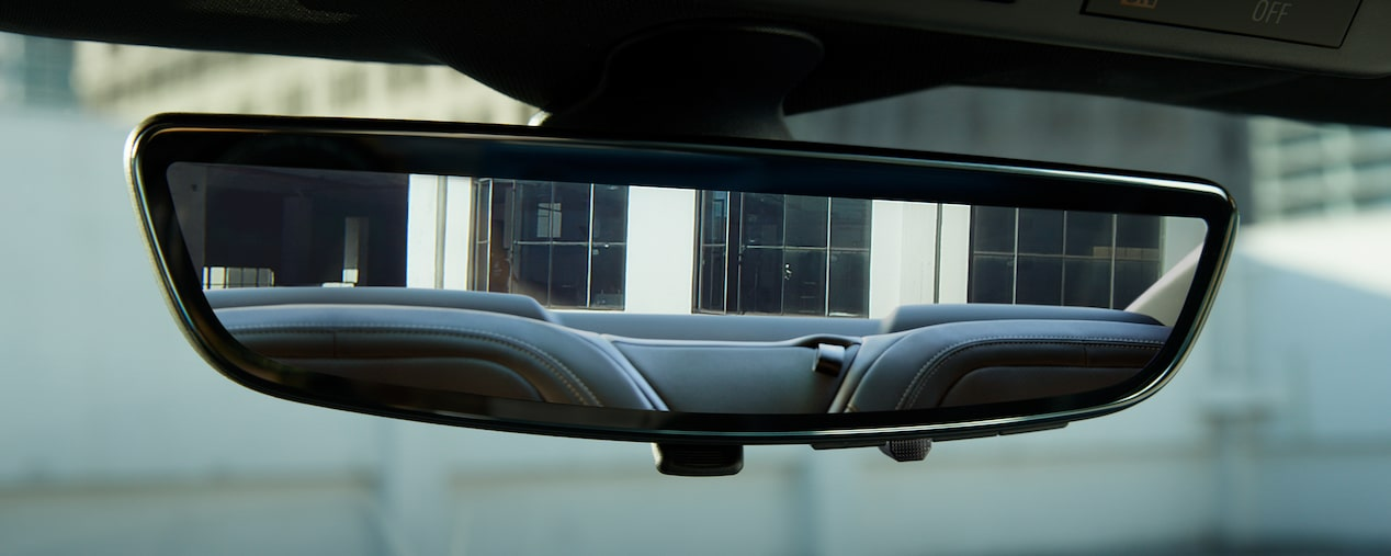 2019 Chevrolet Camaro: rear camera view mirror.