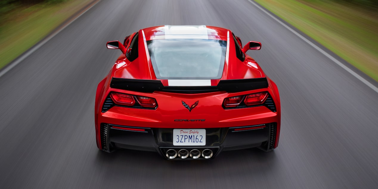 Rear view of the 2019 Corvette Grand Sport