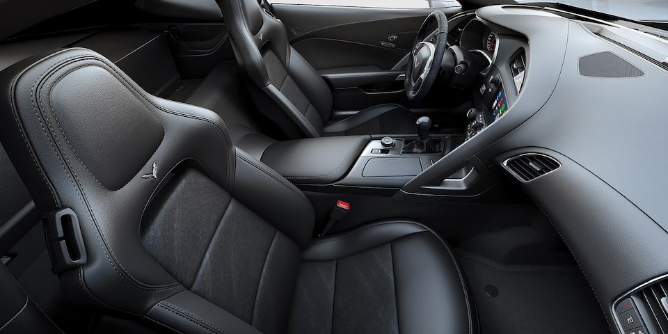Interior profile of the 2019 Corvette Grand Sport
