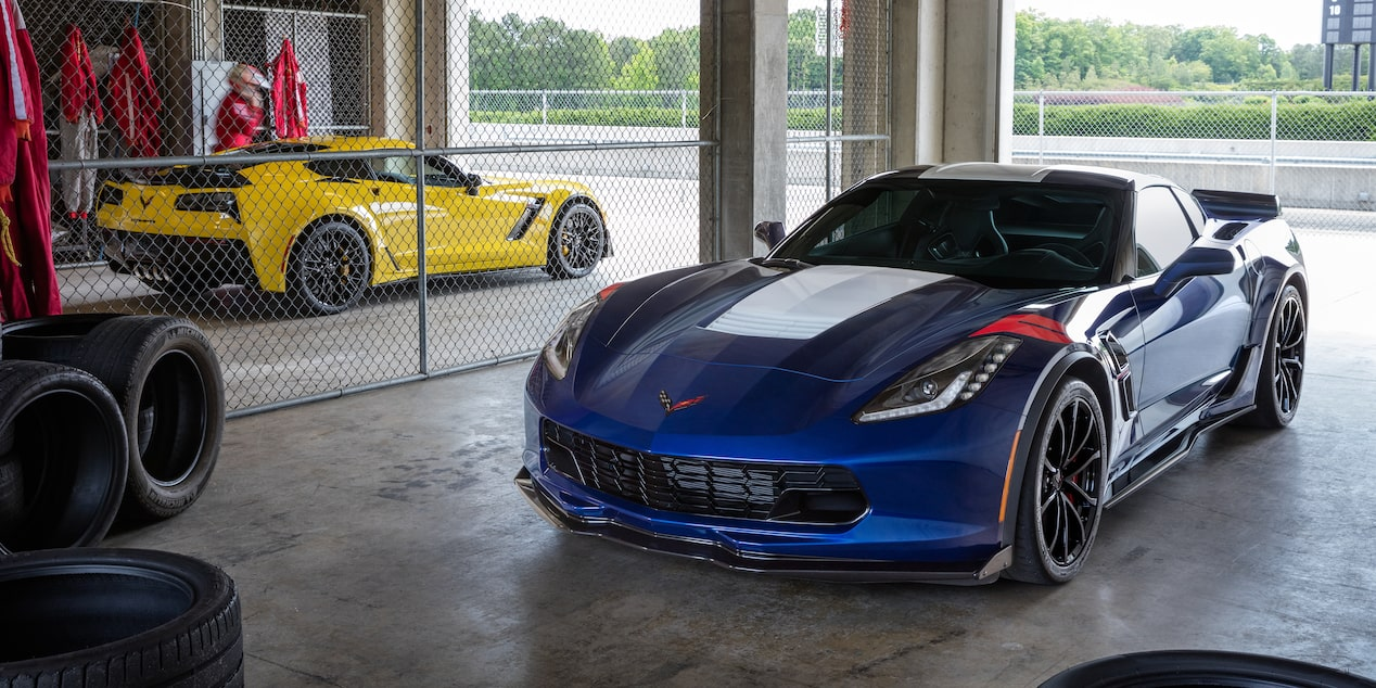 The Corvette Grand Sport sports car comes with many available safety features