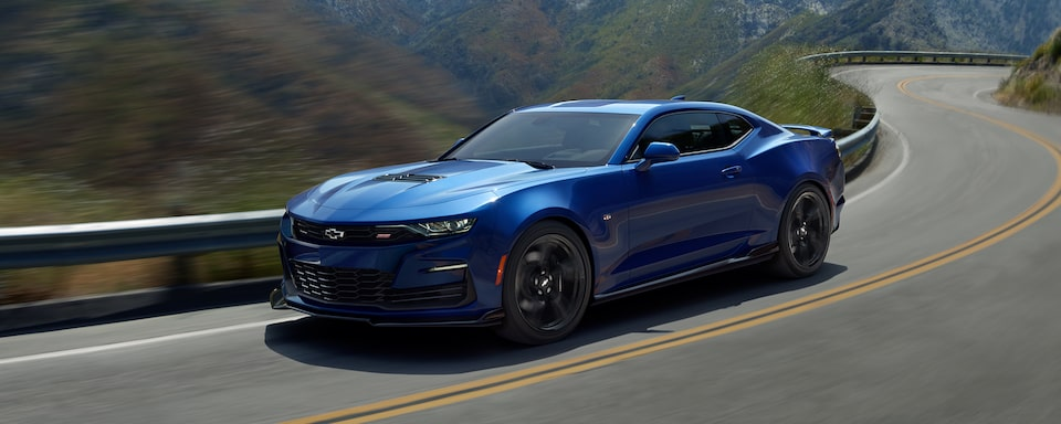 2021 Chevrolet Camaro driving on road.