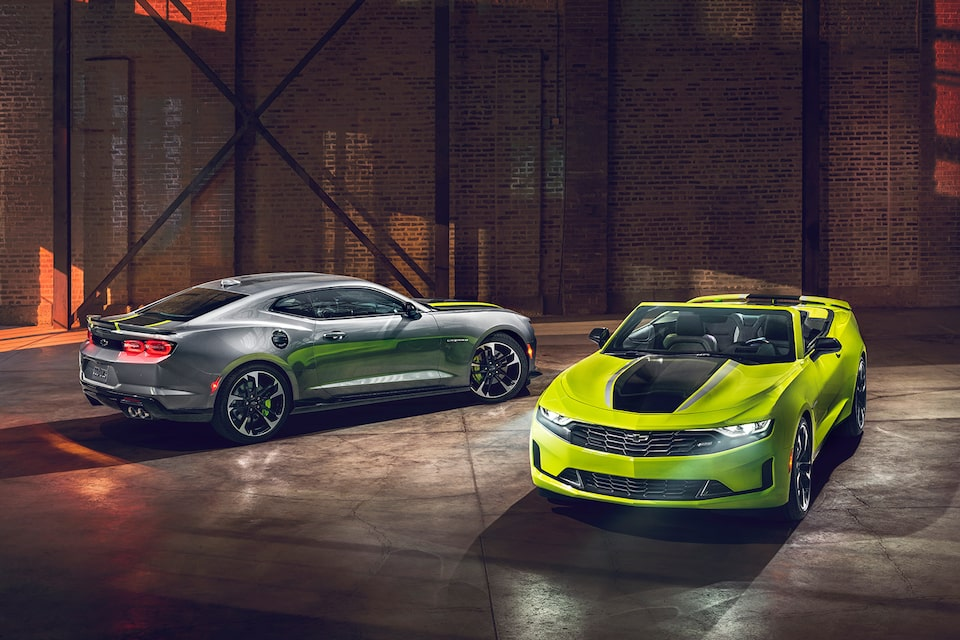2021 Chevrolet Camaro Design: Shock & Steel Special Editions.