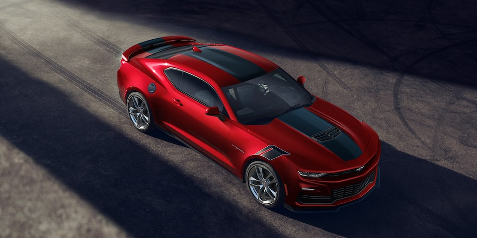 2021 Chevrolet Camaro Design: Front Angled Top View.