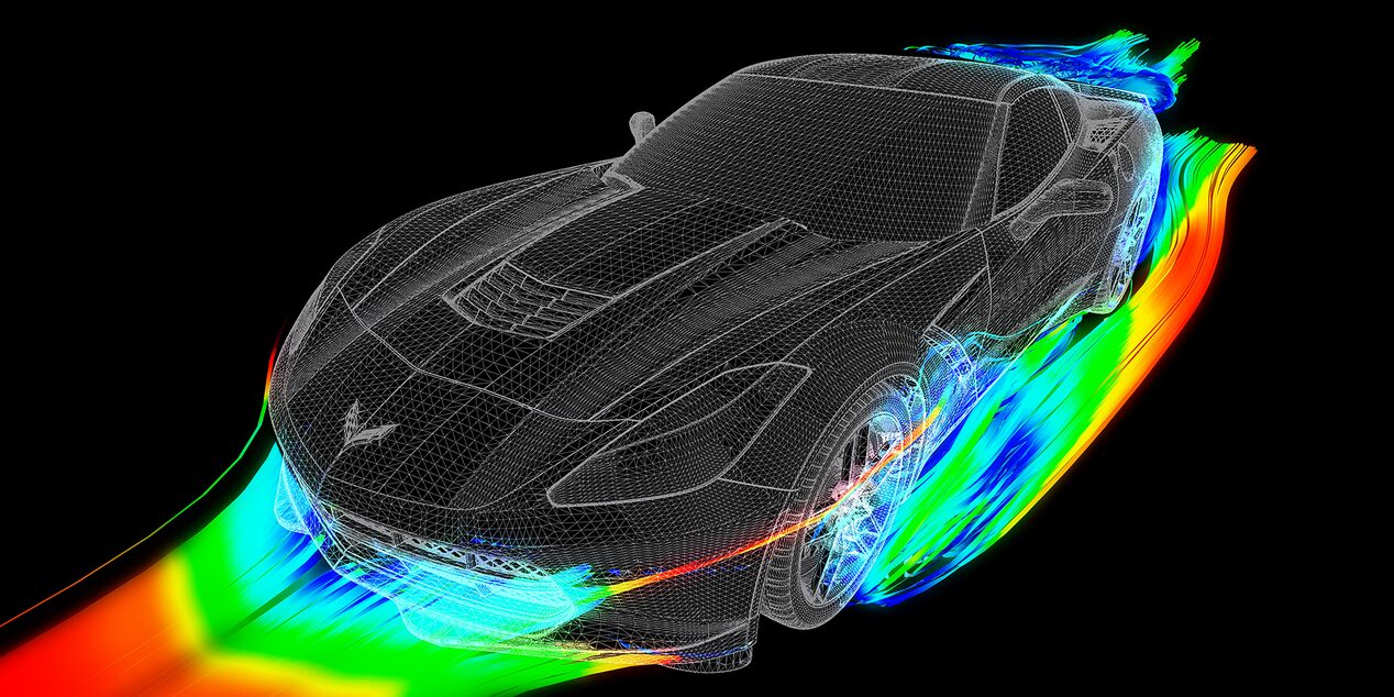 Corvette Stingray aerodynamic exterior design.
