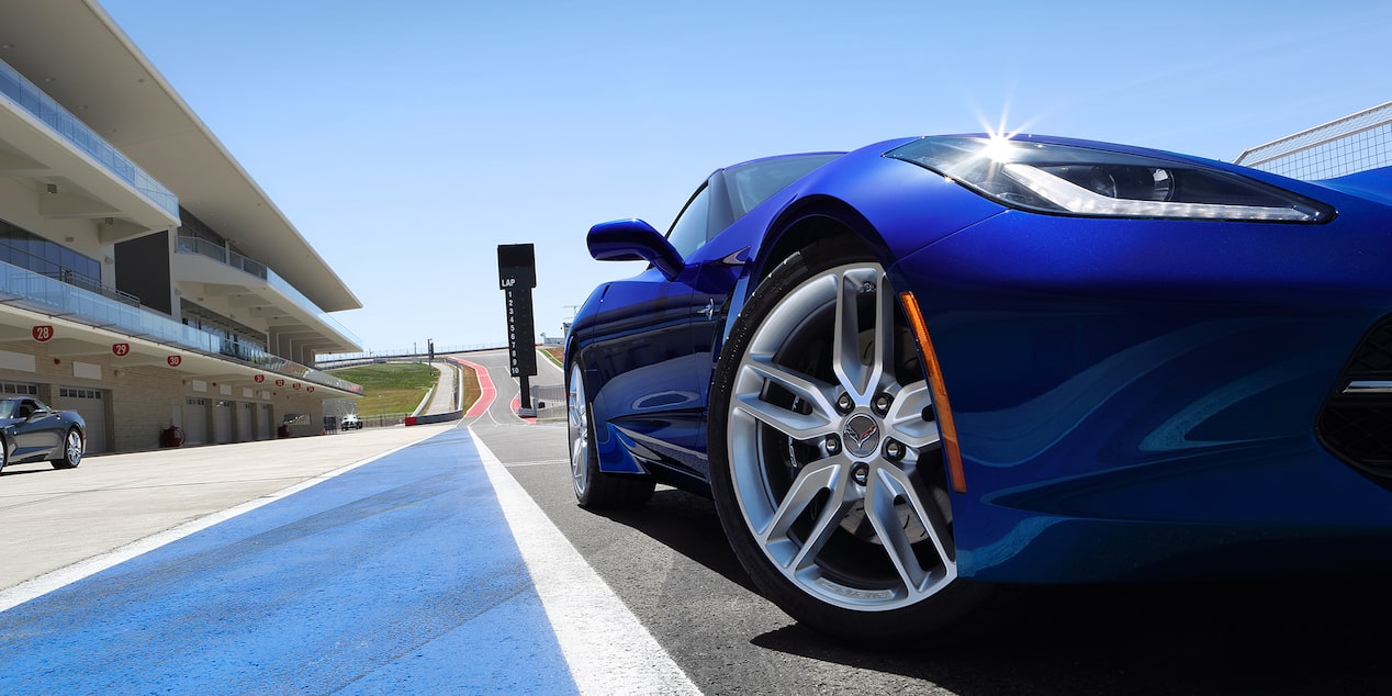 Tires on the 2019 Corvette Stingray sports car.