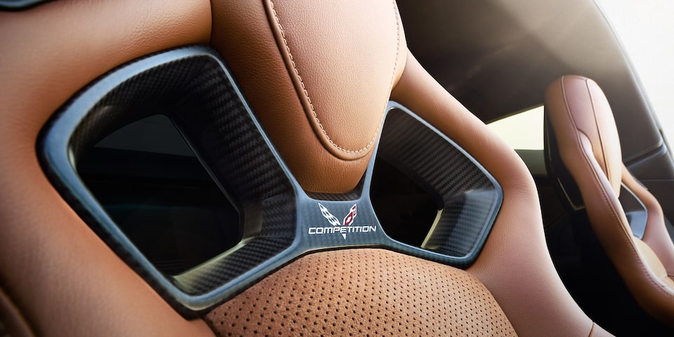 Competition sport seats in the Chevy Corvette Stingray.