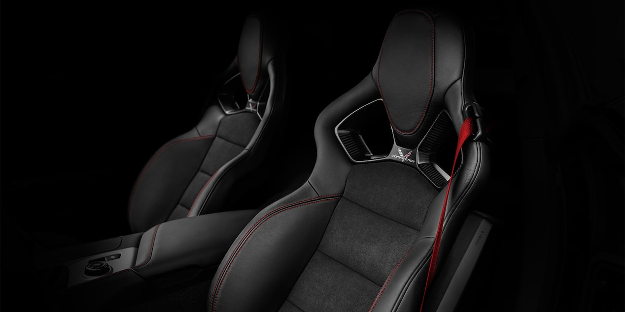 The 2019 Corvette Z06 supercar's GT seats available in premium Napa leather.