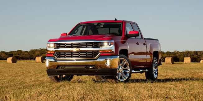 2019 Silverado 1500 Pickup Truck Exterior Photo: Front View with Lights on