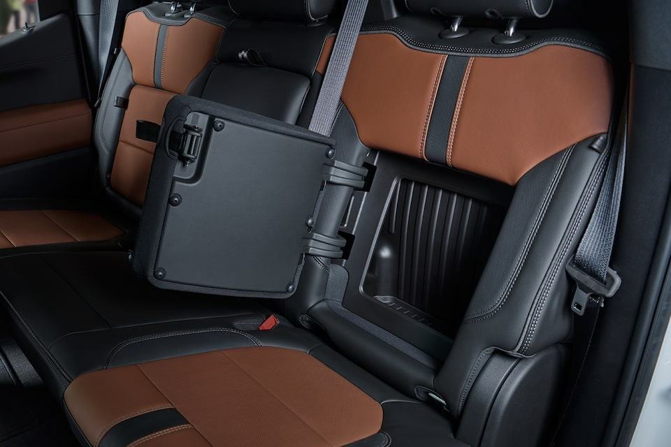 Silverado's available storage compartment.