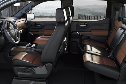 The redesigned Silverado's comfortable cabin.