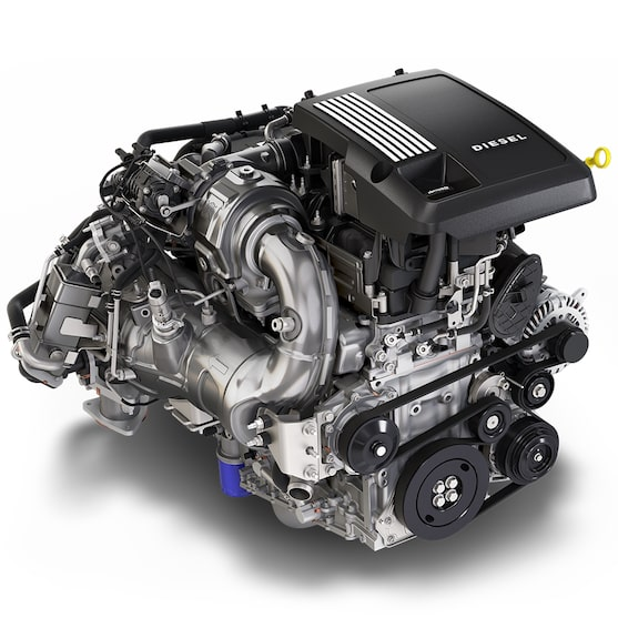 3.0L Duramax turbo-diesel engine.