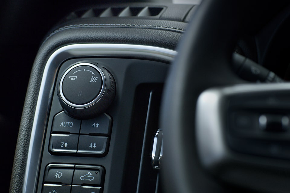 Chevrolet Silverado's available 2-speed transfer case and selectable drive modes.