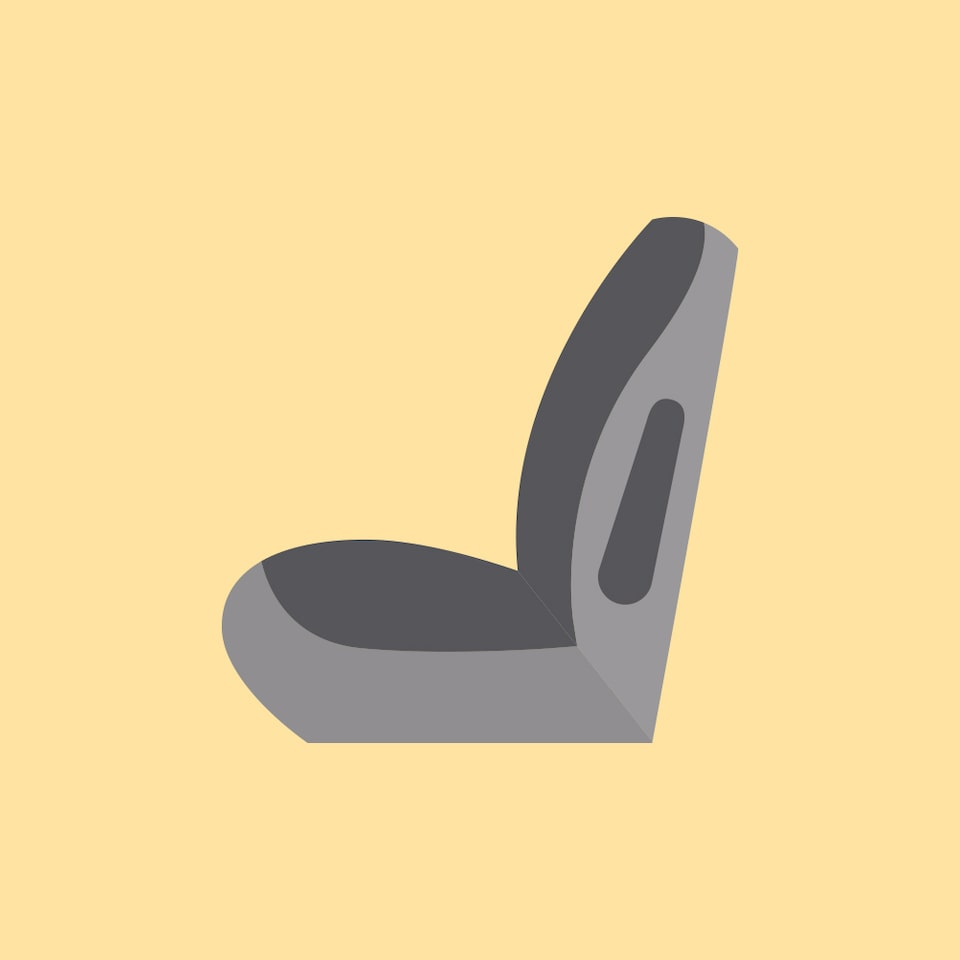 Passenger seating icon.