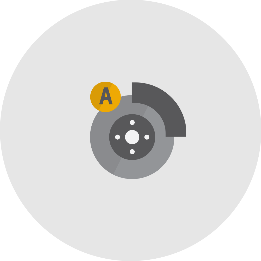 Forward automatic braking icon.