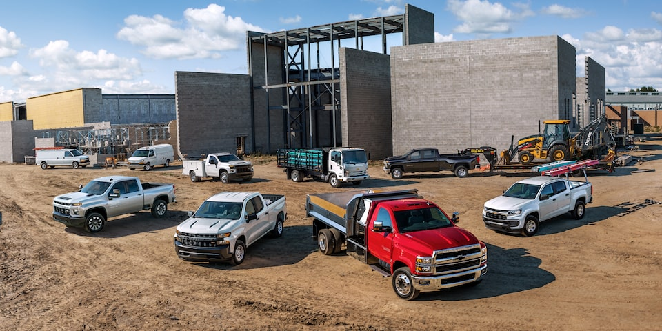 2021 Chevrolet Commercial Lineup Wide Angle View.