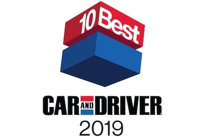 2019 10 Best Car And Driver Awards.