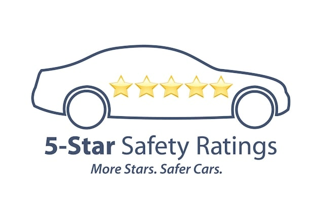 5-Star Safety Ratings From The NHTSA. More Stars, Safer Cars.