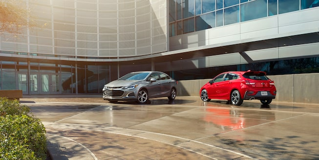 The 2019 Chevrolet Cruze and Cruze Hatch.