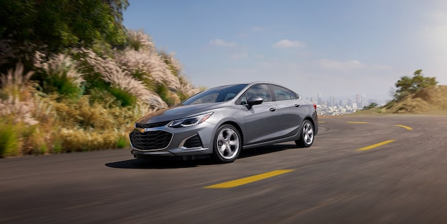 The 2019 Cruze compact car blends striking design with an impressive efficiency.