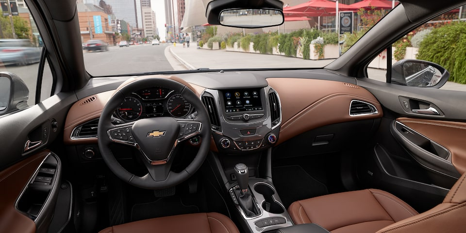 The 2019 Chevrolet Cruze leather, heated steering wheel.