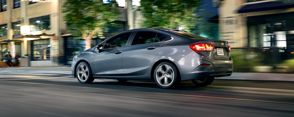 Performance features for the 2019 Cruze compact car.