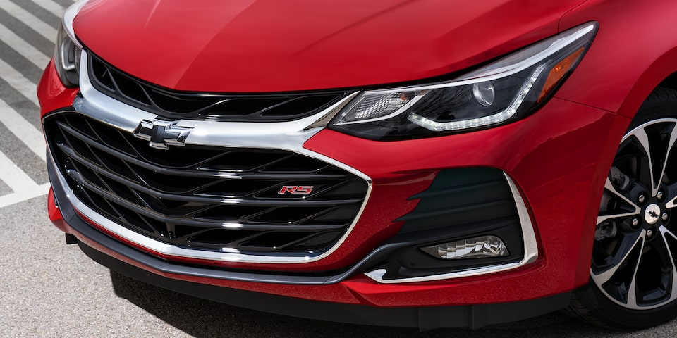 The 2019 Chevrolet Cruze with available LED daytime running lamps.
