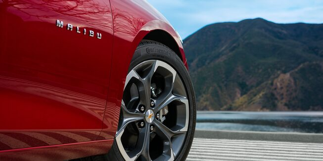 Exterior view of 2019 Malibu RS wheels.