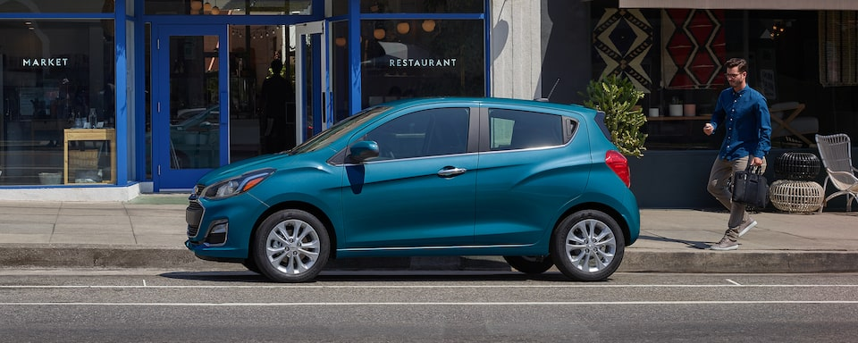 Chevrolet Spark Compact Car Side Exterior View.