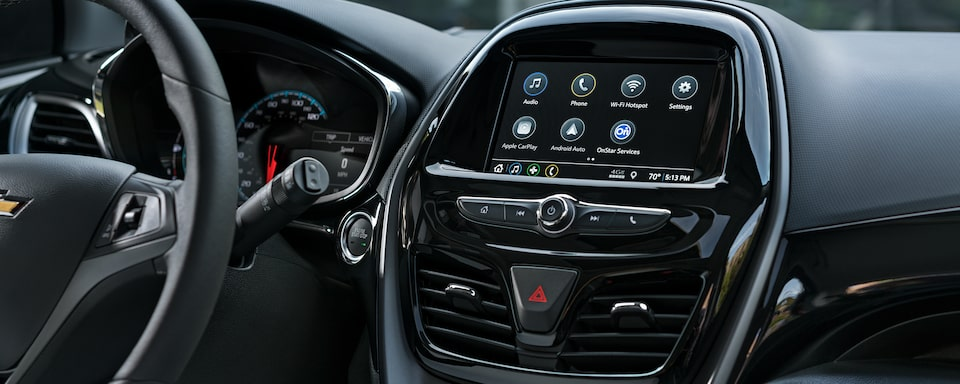 The 2020 Spark's available Chevrolet Infotainment system.