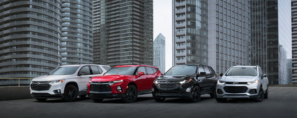 The Chevrolet family of crossovers and SUVs.