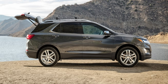 Chevrolet Equinox's available hands-free power liftgate.