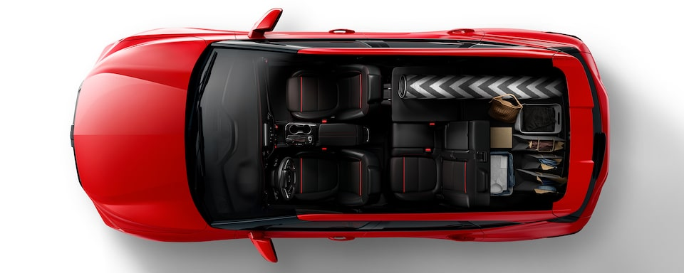 2020 Blazer Cargo Space: Right Passenger Seat Folded For The Shopper.