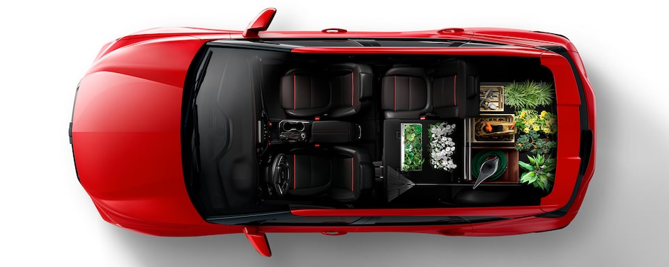 2020 Blazer Cargo Space: Left Passenger Seat Folded For The DIY-Er.
