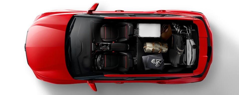 2020 Blazer Cargo Space: Left And Right Passenger Seat Folded For The Weekend Warrior.
