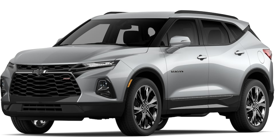 2020 BLAZER IN SILVER ICE METALLIC.