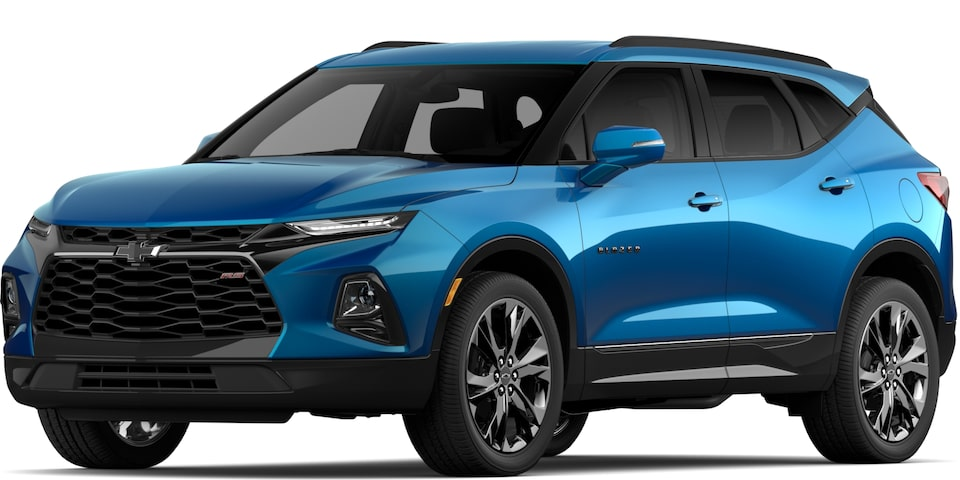 2020 BLAZER IN BRIGHT BLUE METALLIC.