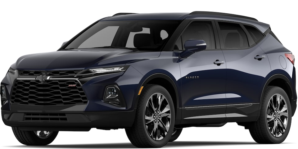 2020 BLAZER IN MIDNIGHT BLUE METALLIC.