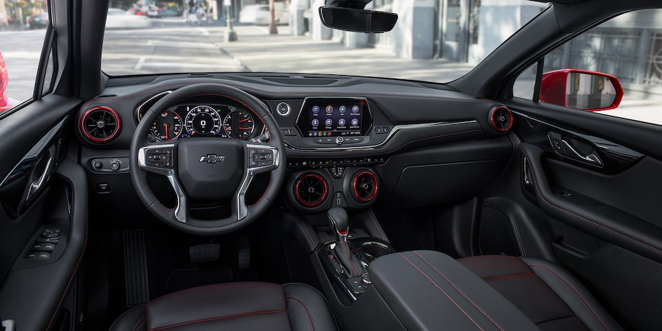 Interior Dashboard Of The 2020 Blazer.