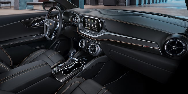 Passenger Side View Interior Dashboard Of The 2020 Blazer.