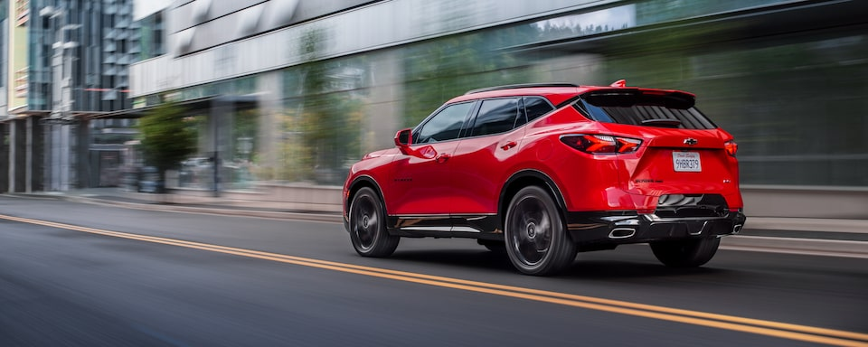 2020 Chevrolet Blazer Driving On The Road.