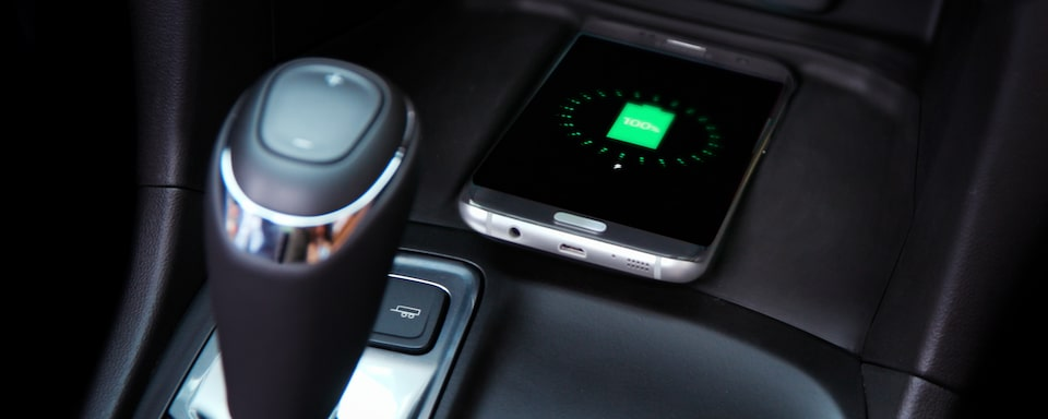 Available wireless device charging in the 2020 Chevrolet Equinox compact SUV.