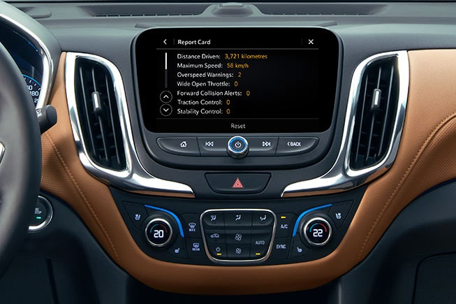 Available Teen Driver technology in the 2020 Chevrolet Equinox.