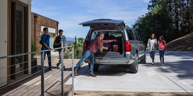 2020 Chevrolet Suburban Large SUV Rear Cargo Space.