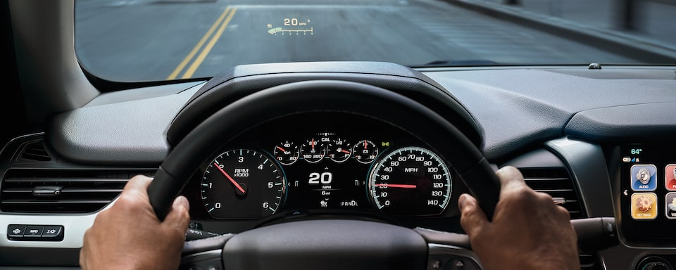2020 Suburban Large SUV Technology: Heads Up Display.