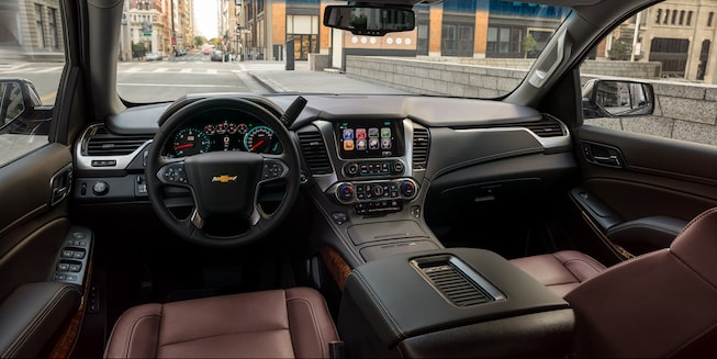 2020 Chevrolet Tahoe Full-Size SUV Dashboard Interior.