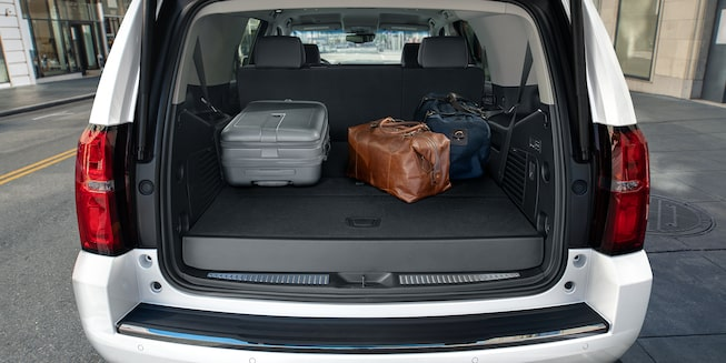 2020 Chevrolet Tahoe Full-Size SUV Rear Cargo Space.